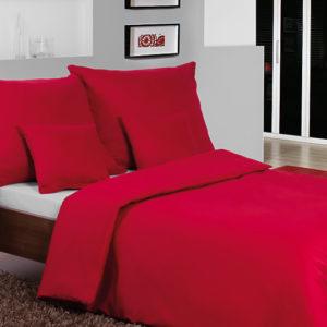 Posteľné prádlo - jednofarebný bavlnený satén červený