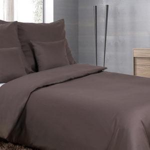 Posteľné prádlo - jednofarebný bavlnený satén antracit